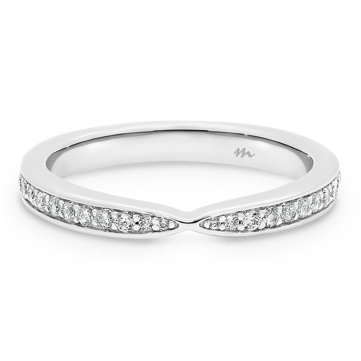 Marie pave set wedding ring