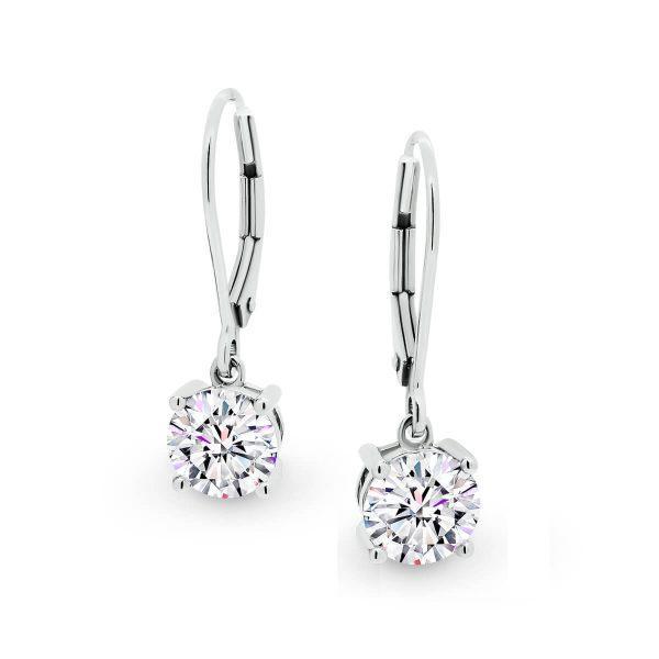 Melinda 1 carat Moissanite dangling drop earrings