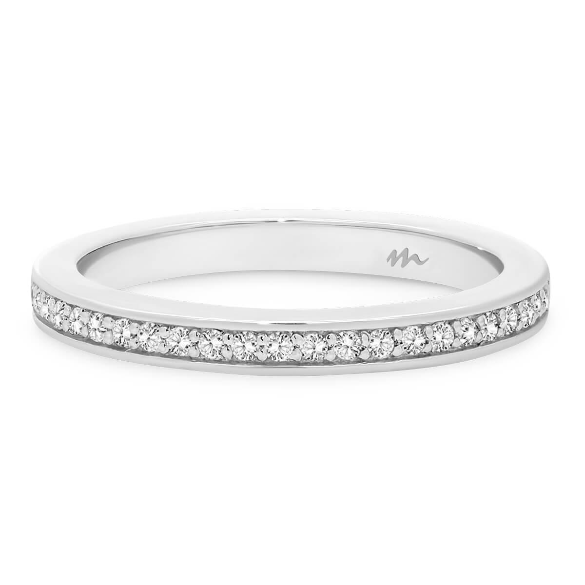 Millie 1.1 Pave set Moissanite wedding ring