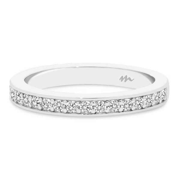 Millie 1.5 pave set Moissanite half band