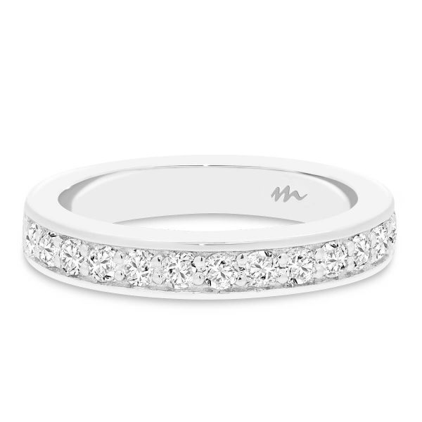 Millie 2.0 Pave set Moissanite wedding ring