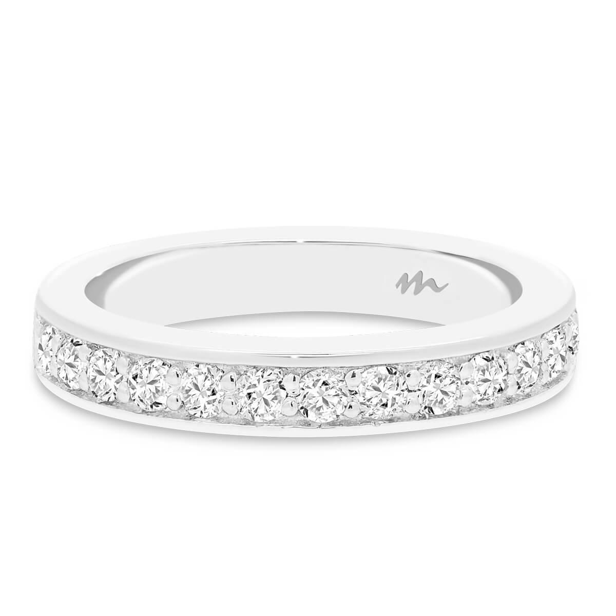 Millie 2.0 Pave set Moissanite wedding ring