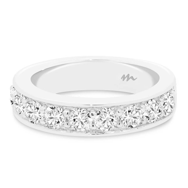 Millie 3.0 pave set Moissanite wedding ring