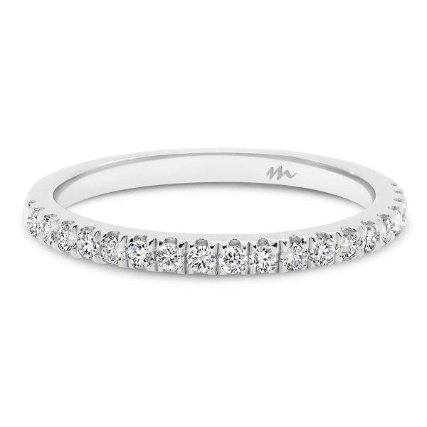 Payton A delicate prong set Moissanite wedding ring