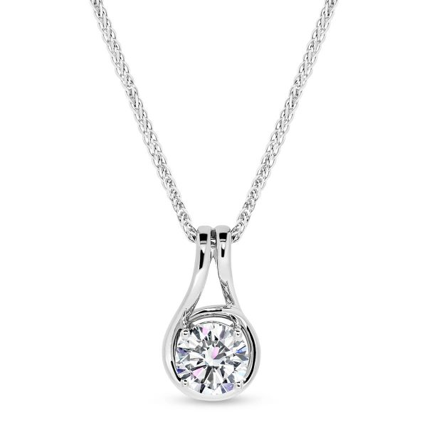 Sage design at Moi Moi is a solitaire diamond pendant with a bit of style.
