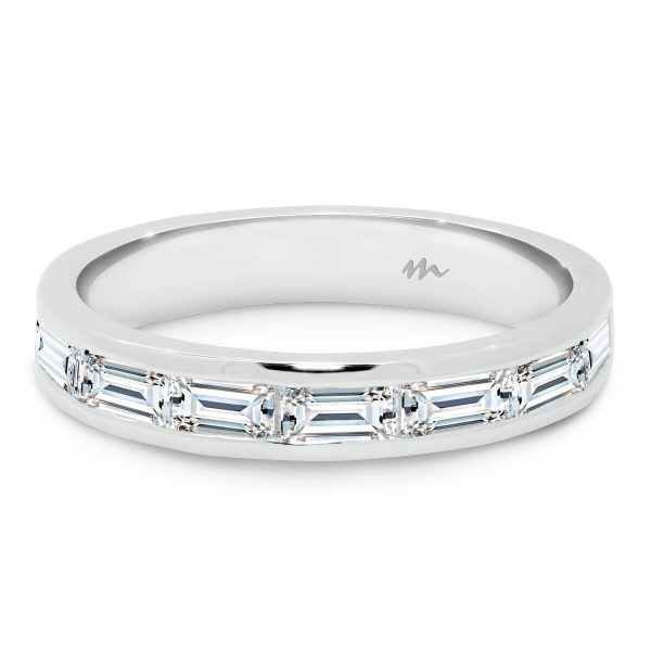 Sia B channel set band with baguette cut SUPERNOVA Moissanite