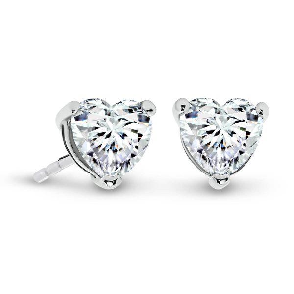 Tami large heart shaped Moissanite earrings