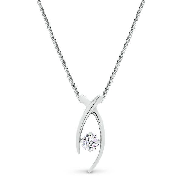 Everyday wear Moissanite or diamond pendant in yellow gold or white gold.