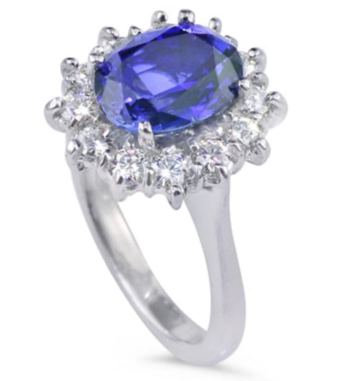 Daisy Blue Sapphire Ring