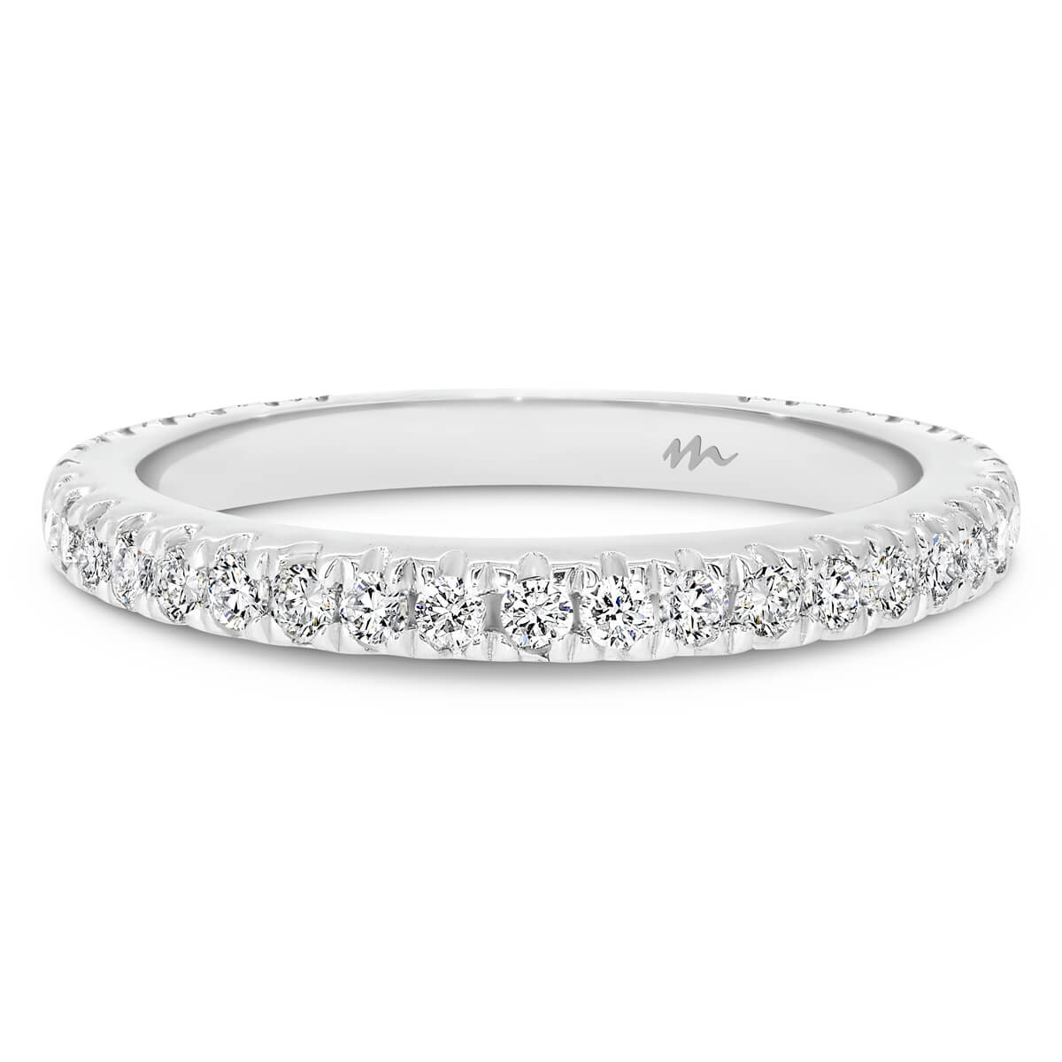 Angelica 1.5 3/4 Claw set Moissanite wedding ring