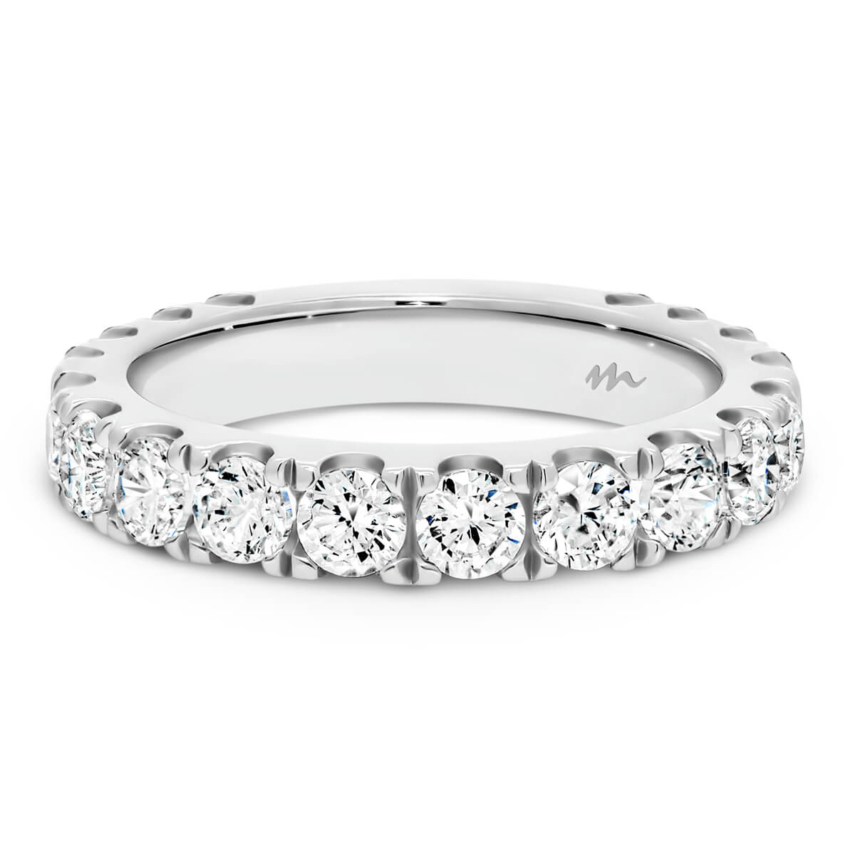 Angelica 3.0 Prong set wedding ring with individual prongs