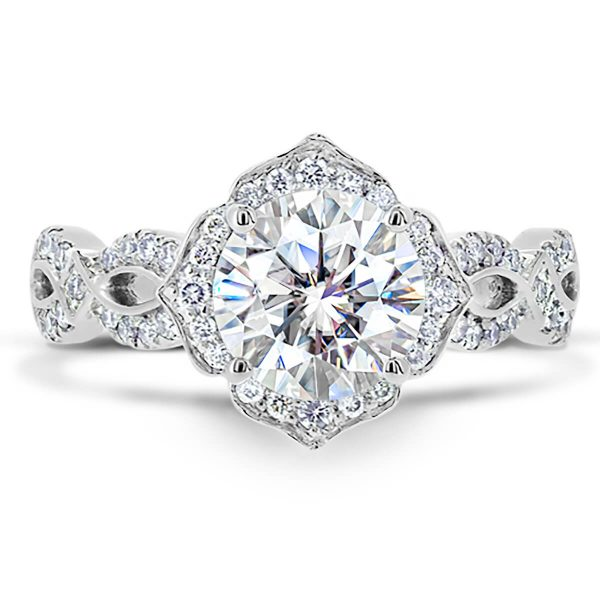 Daniella Vintage Moissanite and Diamond Ring