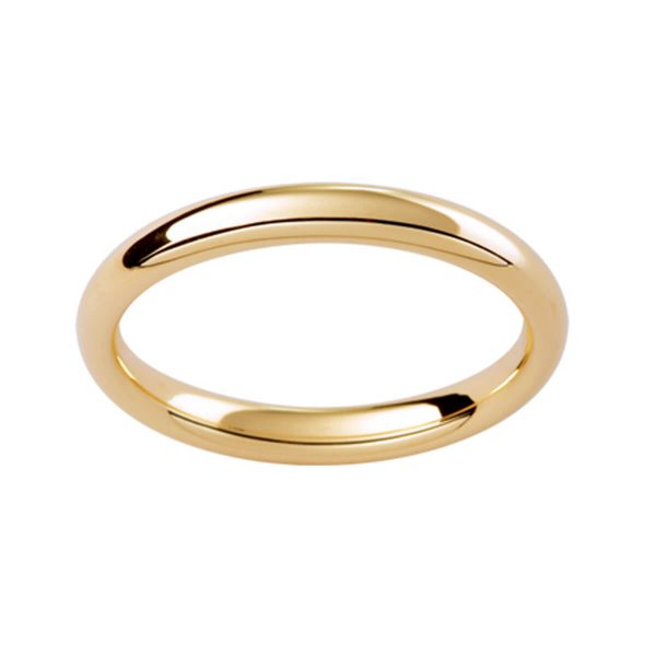 P302 plain contour band in polished 18k gold