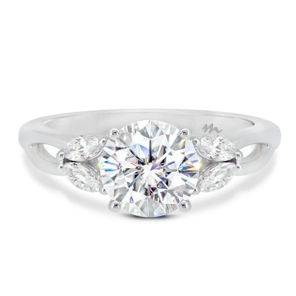 Wanda Vintage Moissanite Ring Marquise Accents