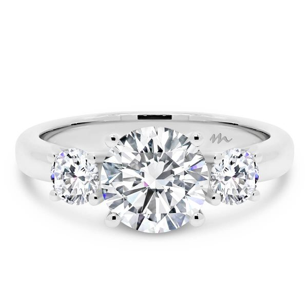 Agnes 7.5 1.50 carat 3 stone engagement ring