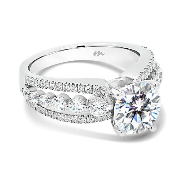 Chanel triple band engagement ring with bubble and breath band