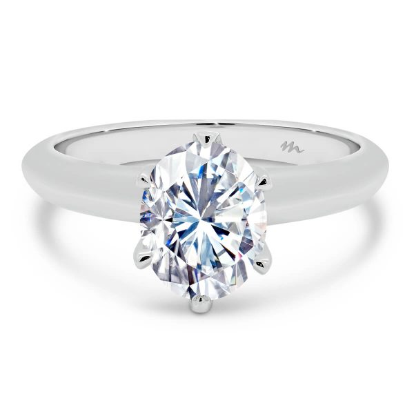 Fiore Oval 3 carat Oval Moissanite engagement ring