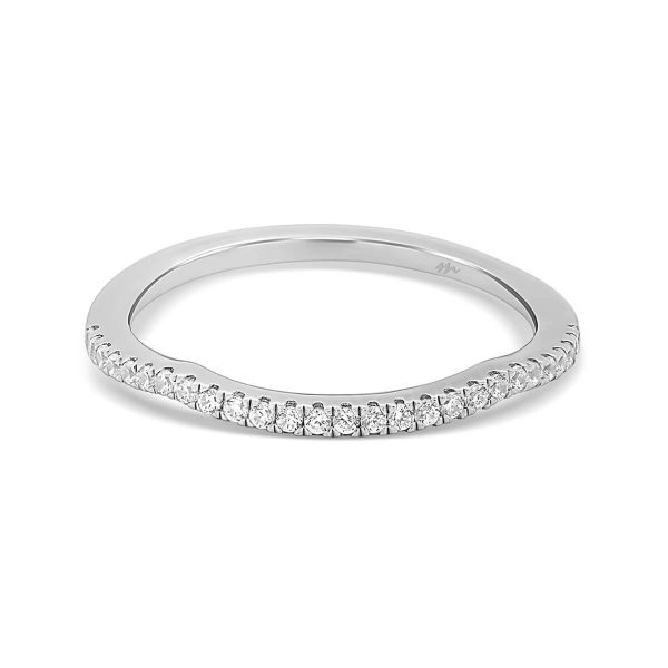 Frances A jigsaw cut Moissanite half band