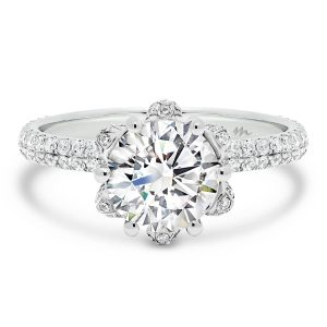 Levora ring 2.00 carat ring with blossom setting