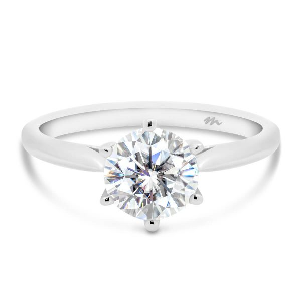 Annerley 6.5 delicate classic 6 prong solitaire on fine knife-edge band
