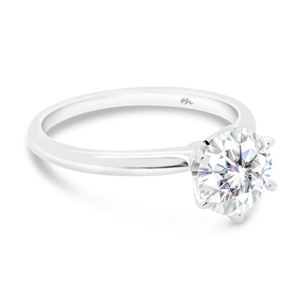 Annerley 7.5-8.0 delicate classic 6 prong solitaire on fine knife-edge band